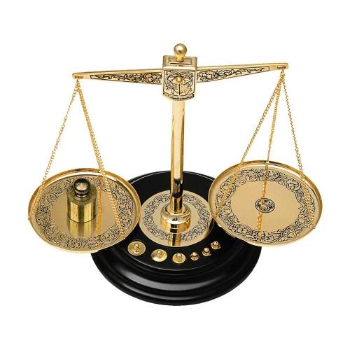 Весы декоративные с гирьками