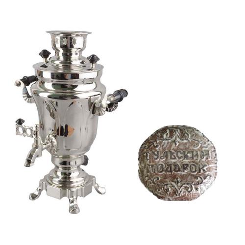 Подарочный набор «Купеческий»: самовар, тульский пряник