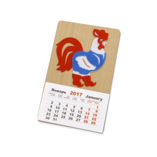 Магнит-календарь «Петушок в жилетке»