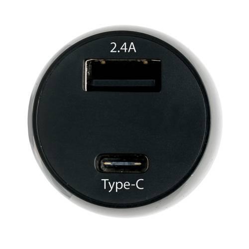 Автомобильное зарядное устройство Type-C, черный