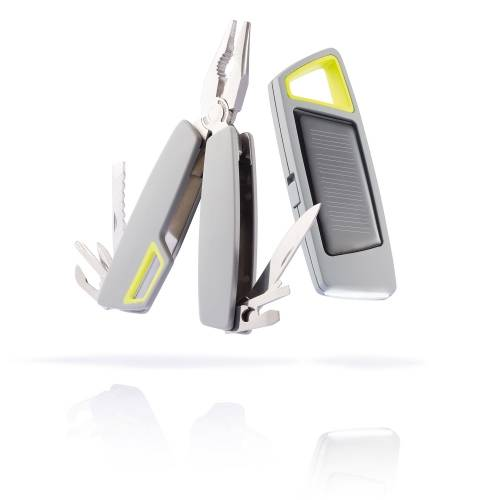 Набор Tovo: мультитул и фонарик на солнечной батарее, серый