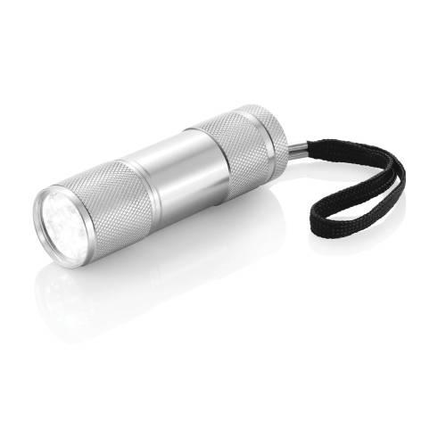 Алюминиевый фонарик Quattro, серебряный