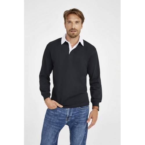 Рубашка поло мужская с длинным рукавом PACK 280 ярко-синяя