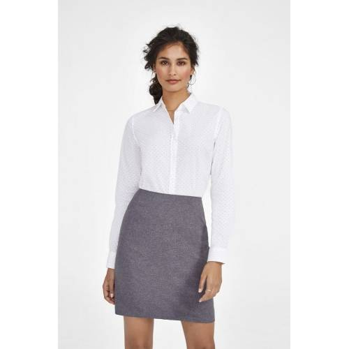 Рубашка женская BECKER WOMEN, белая с темно-синим