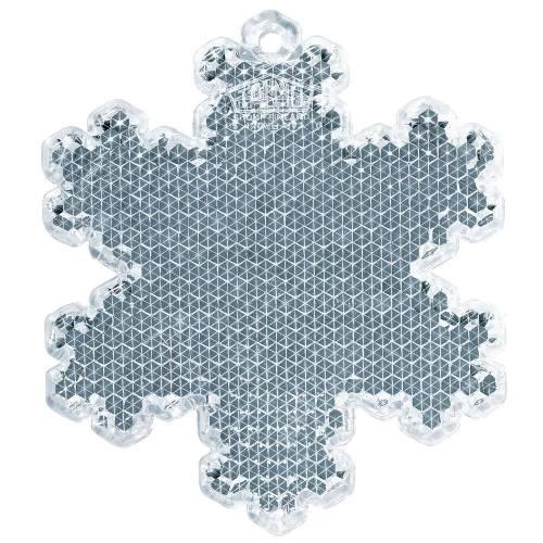 Пешеходный светоотражатель «Снежинка», белый