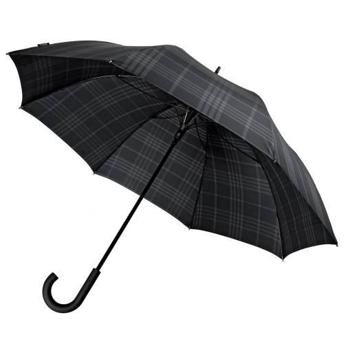 Зонт-трость Sport, черный в клетку