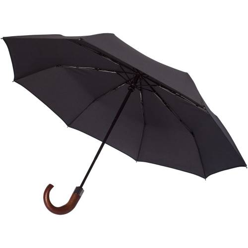 Складной зонт Wood Classic, черный