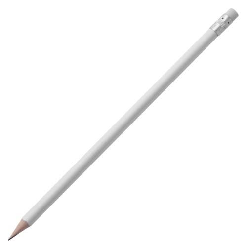 Карандаш простой Triangle с ластиком, белый