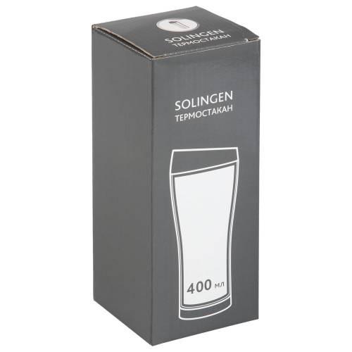 Термостакан Solingen, вакуумный, герметичный, черный