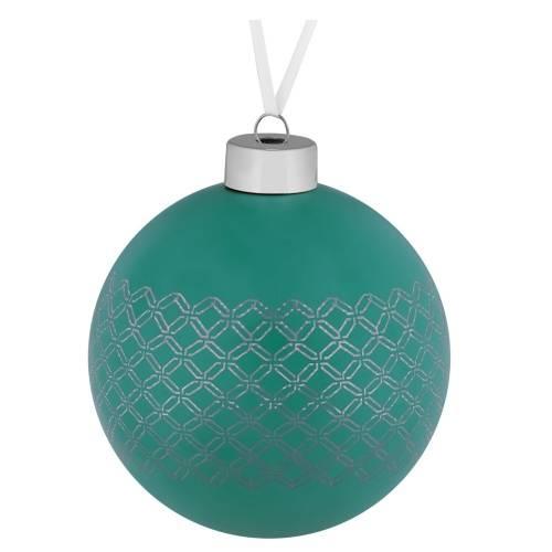 Елочный шар Queen, 10 см, зеленый