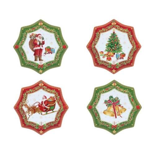 Набор десертных тарелок «Рождественский»