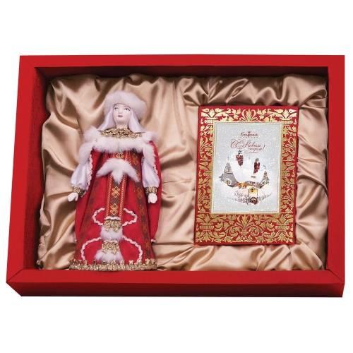 Подарочный набор «Рождество»: кукла декоративная, шоколадные конфеты «Конфаэль»