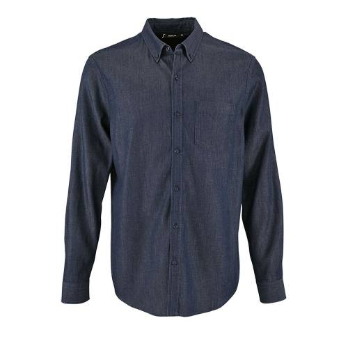 Рубашка мужская BARRY MEN, синяя (деним)