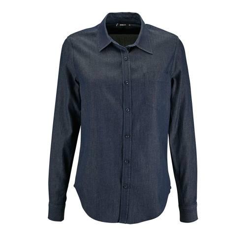 Рубашка женская BARRY WOMEN, синяя (деним)