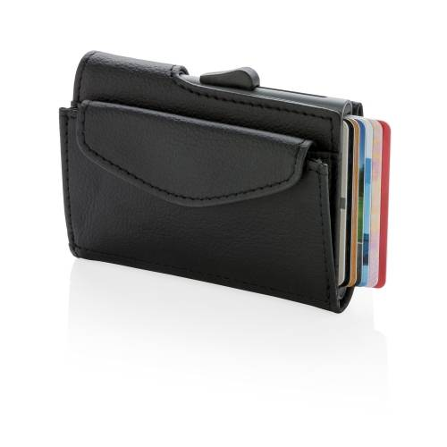 Кошелек с отделением для монет и держателем для карт C-Secure RFID, черный