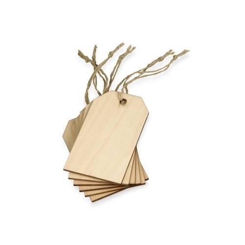 Набор деревянных ярлыков