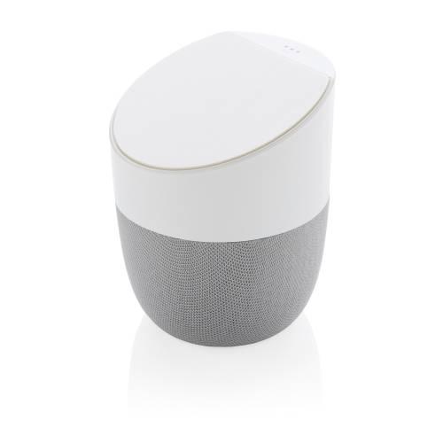 Колонка с беспроводным зарядным устройством Home, белая