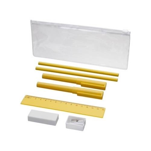 Набор «Mindy»: ручки шариковые, карандаши, линейка, точилка, ластик