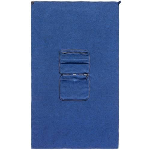 Дорожный плед onBoard, синий меланж