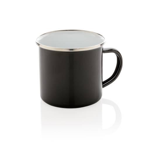 Эмалированная кружка Vintage, черный
