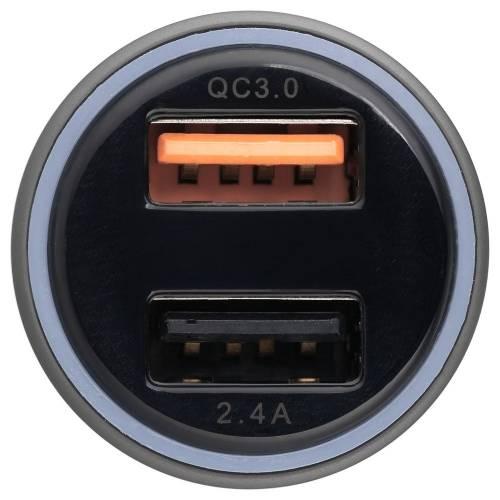 Автомобильное зарядное устройство Volto, серое