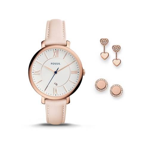 Подарочный набор: часы наручные женские, пусеты
