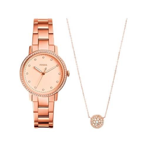 Подарочный набор: часы наручные женские, кулон