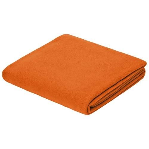 Флисовый плед Warm&Peace, оранжевый