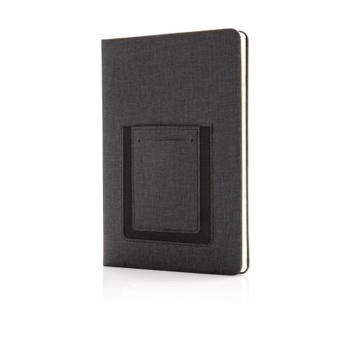 Блокнот Deluxe с кармашком для телефона