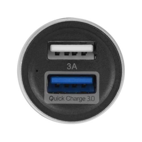 Адаптер автомобильный USB с функцией быстрой зарядки QC 3.0 «TraffIQ»