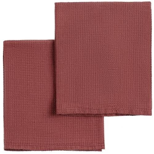 Набор полотенец Fine Line, красный