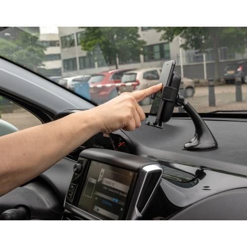 Автомобильный держатель с автоматическим зажимом и функцией беспроводной зарядки, 5W