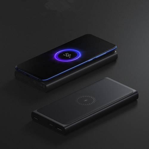 Внешний аккумулятор 10000 мАч с беспроводной быстрой зарядкой Xiaomi Mi Wireless Charger без характеристик