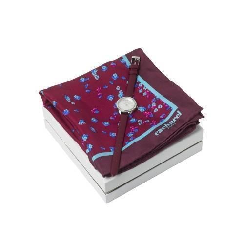 Подарочный набор: часы наручные женские, шелковый платок